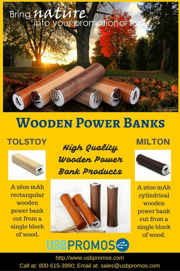 Custom Wood Power Bank