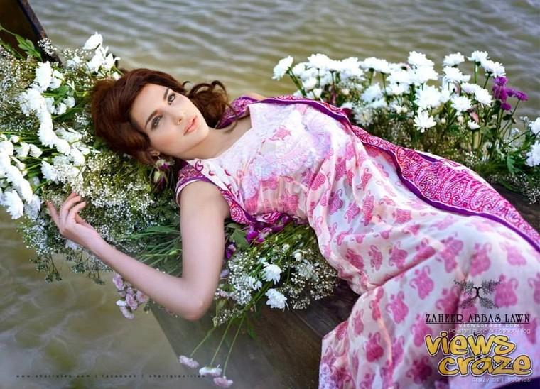 Pakistani Fashion Style: Zaheer Abbas Limited Eiditon Lawn Collection 2013