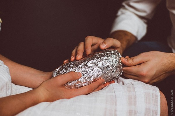 Look! The Couple Did a Baby Photoshoot Using a Burrito Included Really Emotional - NICE PLACE TO VISIT