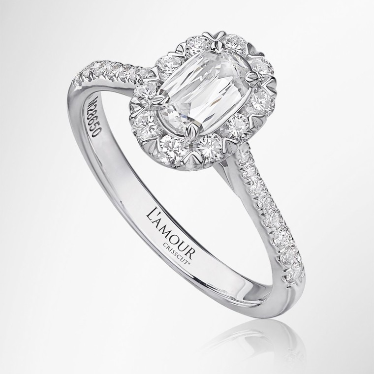 Olivia - Lamour Crisscut diamond ring online