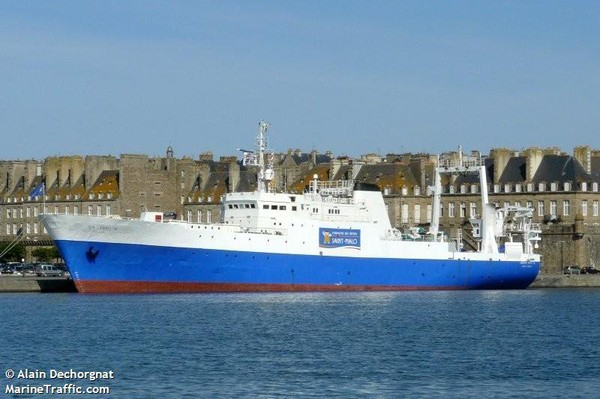 Détailles pour: JOSEPH ROTY II (Fish Factory) - IMO 7362500, MMSI 227583000, Call Sign FNMY enregistré en France   AIS Marine Traffic