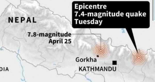 Le Népal touché par un nouveau séisme meurtrier de magnitude 7,4