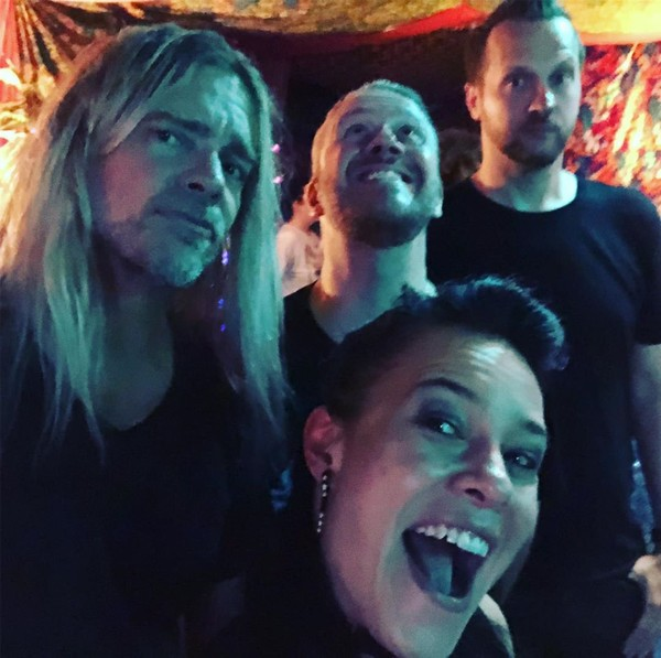 """Jen Majura on Instagram: """"#lovemyboys #gotmyboysback #evanescence #💜 Sometimes during the show I look across the stage and realize how thankful and grateful I am…"""""""