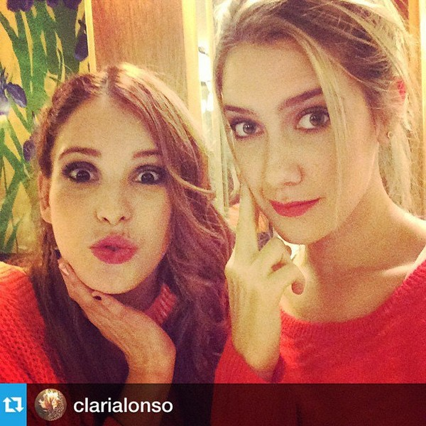 "Cande Molfese on Instagram: ""❤️❤️❤️❤️❤️ mi @clarialonso"""