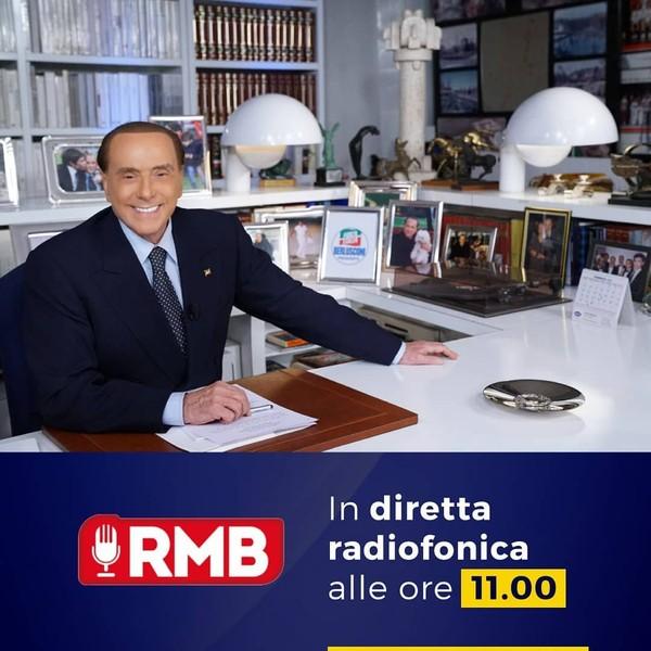 """Silvio Berlusconi on Instagram: """"Tra poco sarò in diretta radiofonica per l'intervista con il gruppo RMB.#ForzaItalia #elezioni2018"""""""