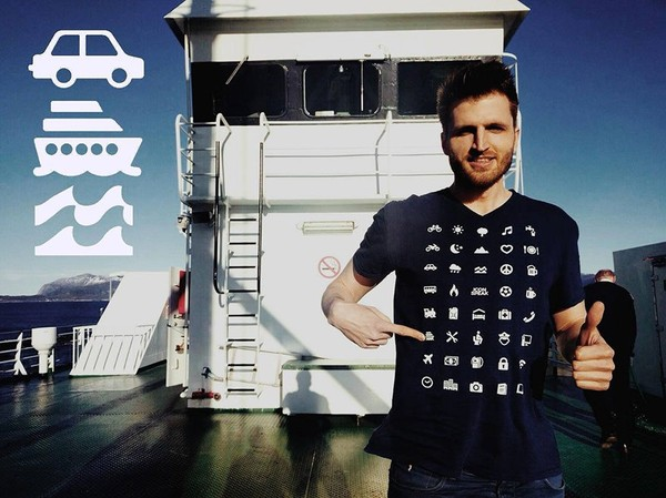 Interestingly T-Shirt with 40 Icons allowed you to communicate in any country - NICE PLACE TO VISIT