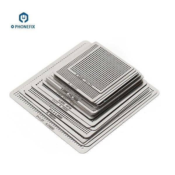 27pcs BGA Reballing Stencil Universal for Phone Fix Rework Repair|FX063|BGA Reballing Kits