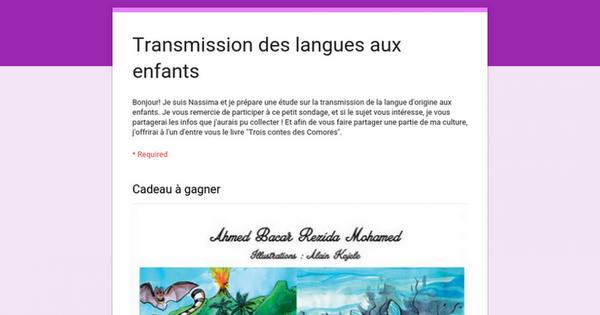 Transmission des langues aux enfants
