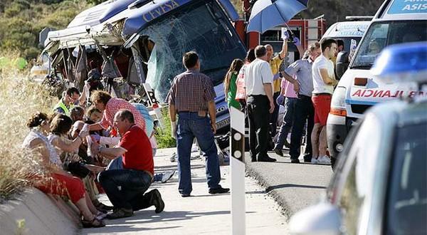 Espagne : Neuf morts dans un accident de car en Espagne