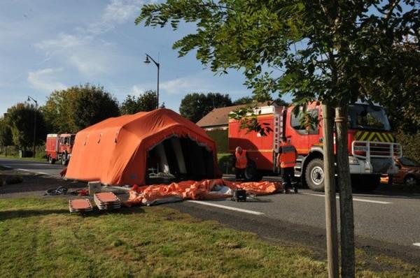 Saint-Denis-sur-Sarthon Accident avec un car scolaire britannique : une dizaine de blessés, le plan Novi déclenché [MàJ]