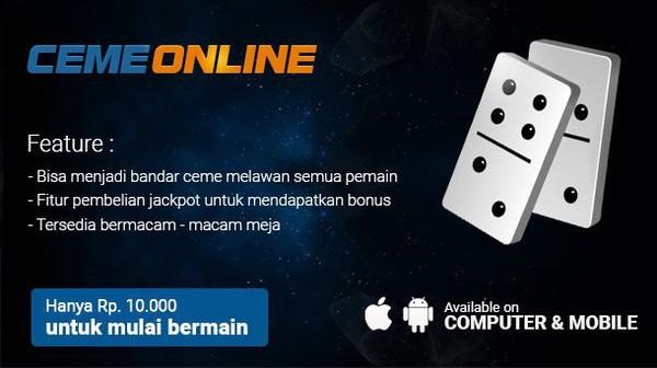 Bandar Ceme Indonesia Deposit 10000 | Agen Domino QQ | Poker Online