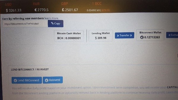Biggest Bitconnect profit day yet for me to date!