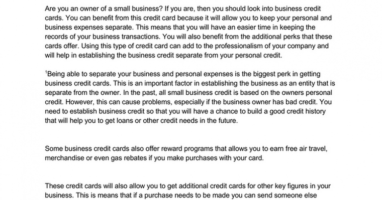 Finding Business Solutions with Business Credit Cards