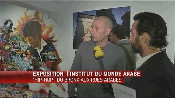 """Visite guidée de l'exposition """"Hip-Hop : du bronx aux rues arabes"""" avec Akhenaton"""