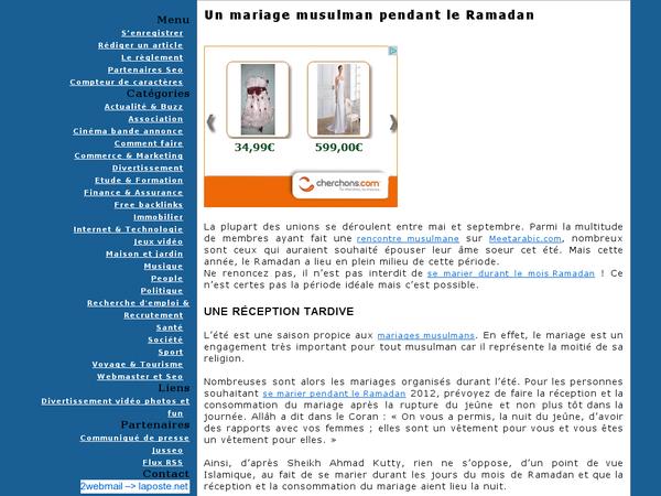 Un mariage musulman pendant le Ramadan