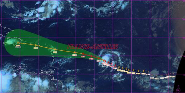 L'ouragan Danny prend des forces - Environnement en Guadeloupe