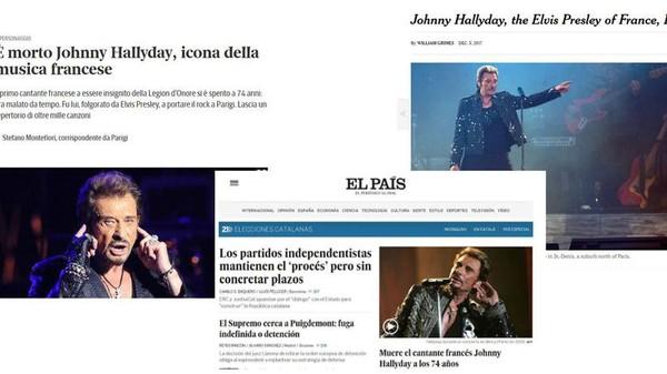 Mort de Johnny Hallyday: la presse internationale rend hommage au «Elvis français»