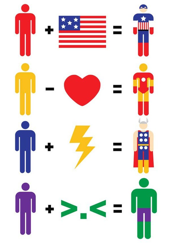 Les Super Héros expliqués avec des équations simples | Ufunk.net