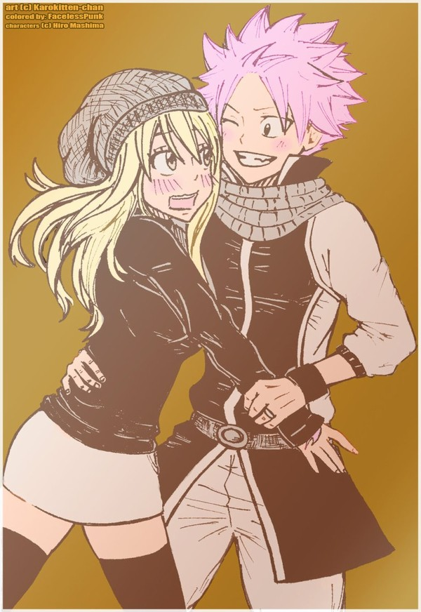FT- NaLu Autumn by ~Karokitten-chan on deviantART