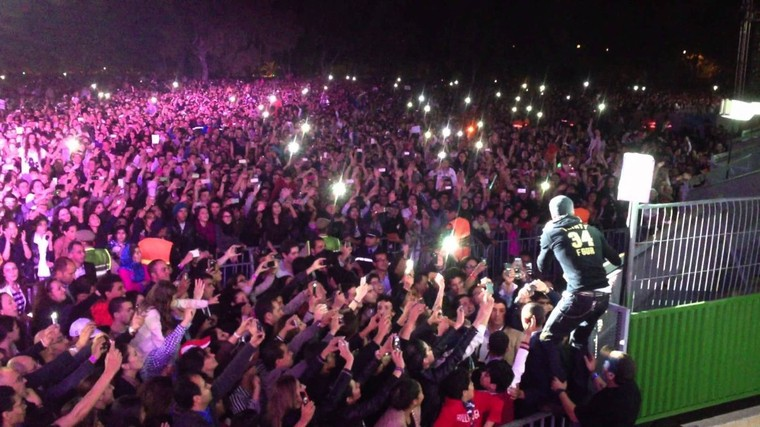 Official Video of Enrique Singing BAILAMOS in Rabat, Morocco