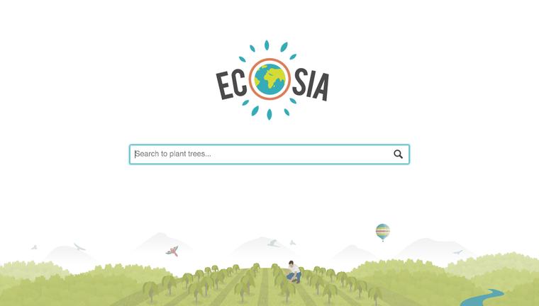 Ecosia, un moteur de recherche à tendance écologique - LNO
