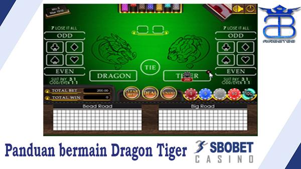 Panduan bermain Dragon Tiger SBOBET Casino   Airbet88  