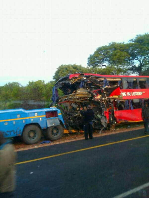 Pathfinder bus crash - Photos