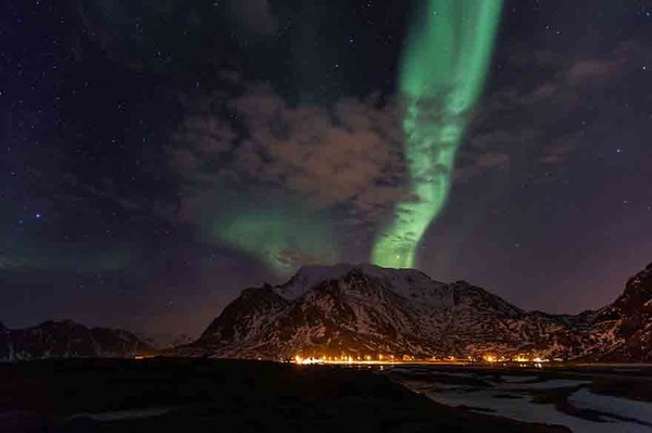 The winter on the beautiful Lofoten in the Norway