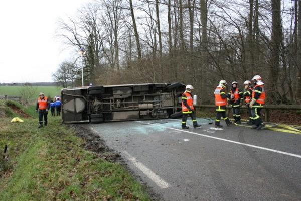 Les Hogues Accident de bus scolaire : huit blessés dont six écoliers
