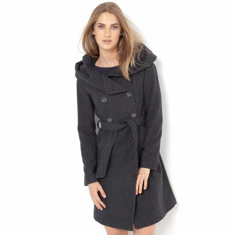 acheter en ligne dd368 50c71 Manteau chevrons à capuche R Essentiel, Manteau Femme La ...