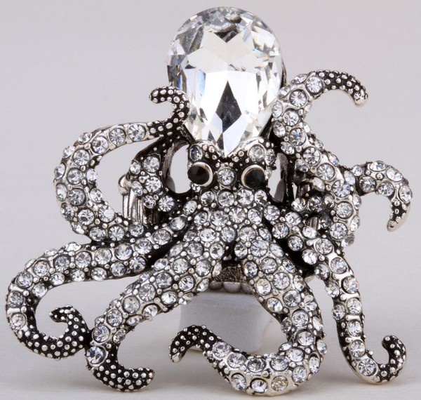 Octopus stretch ring antique