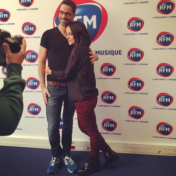 .@alizeeofficiel | J'ai retrouvé mon copain ce matin #rfm #dals #emmanuelmoire #alizee #morning