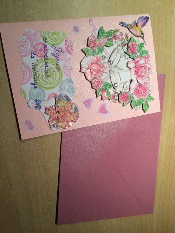 Carte D'anniversaire De Mariage Maison (et Enveloppe)