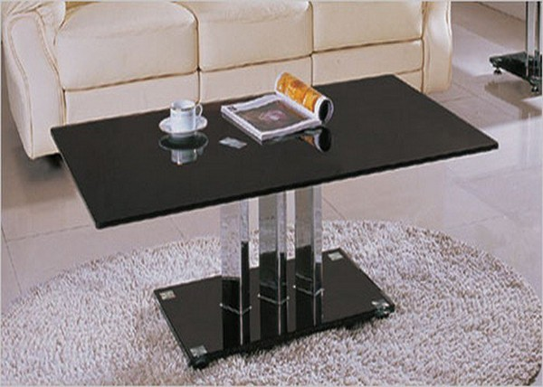 Black Glass Coffee Table for Coffee Shop | HomeDecorIn.com