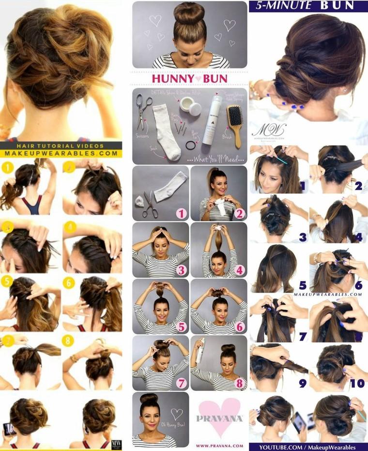 Pinterst buns' tutorials – Makeyaaah.com