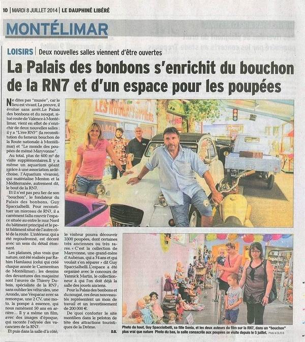 Ere RN7 à coté du Monde des Poupées Palais des Bonbons à Montélimar - Poupees Poupons de Maryvonne