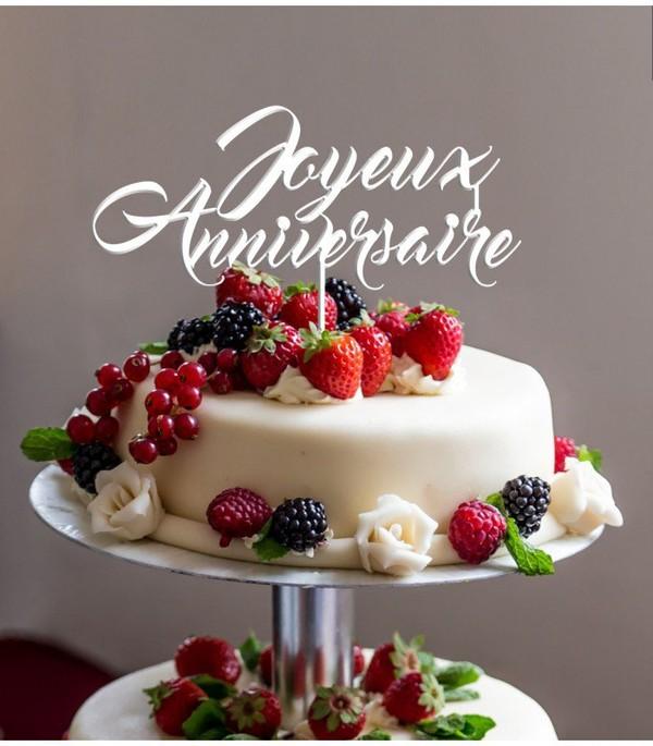 cake topper jOYEUX ANNIVERSAIRE en impression 3D by le Maitre Cube