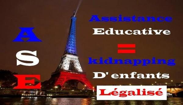 Kidnapping d'enfant légalisé en France.