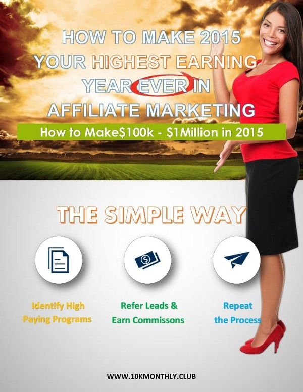 It's 2015..you've got to GO BIG! Learn how you can identify high-ticket, high-paying affiliate programs with high monthly residuals to make this your highest e…