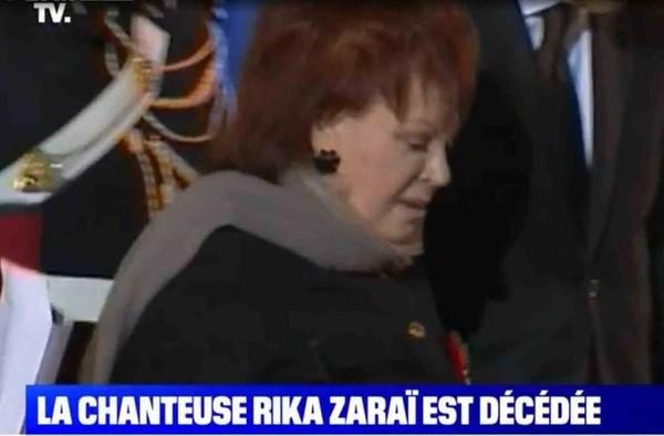 Mort de Rika Zaraï : la chanteuse confondue avec Régine sur BFM TV...