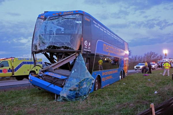 Megabus trip: First a crash, then a fellow passenger arrested