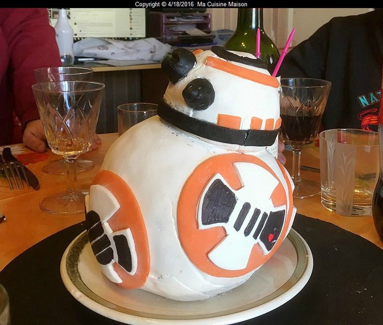 CAKE DESIGN BB8 STAR WARS VII (Recette maison) - Ma Cuisine Maison