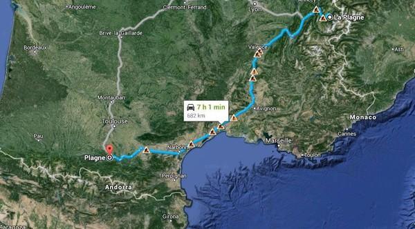 Un car de touristes belges fait un détour de 1.200 km en France