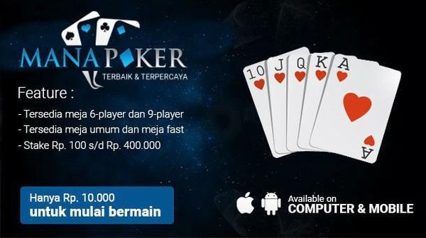Situs Bandar Poker Online Terpercaya di Android   Manapoker