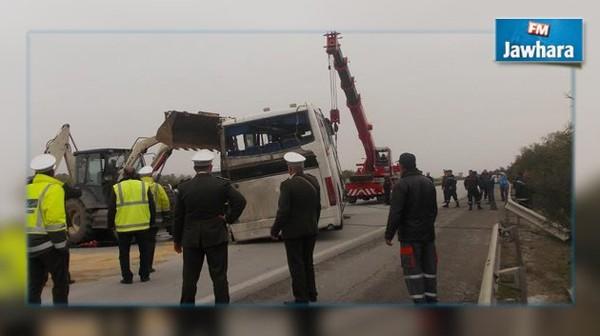 Renversement du bus sur l'autoroute Tunis-Sousse : ouverture d'une enquête