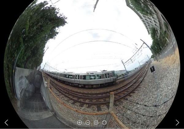 360度全天球ビデオ、福知山線で試し撮り : hiromon の鉄道ビデオ