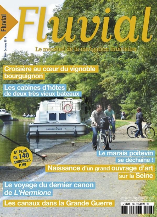Revue Fluvial Vient de paraître Fluvial 246 - Le numéro d'octobre est en kiosque et dans les boîtes aux lettres