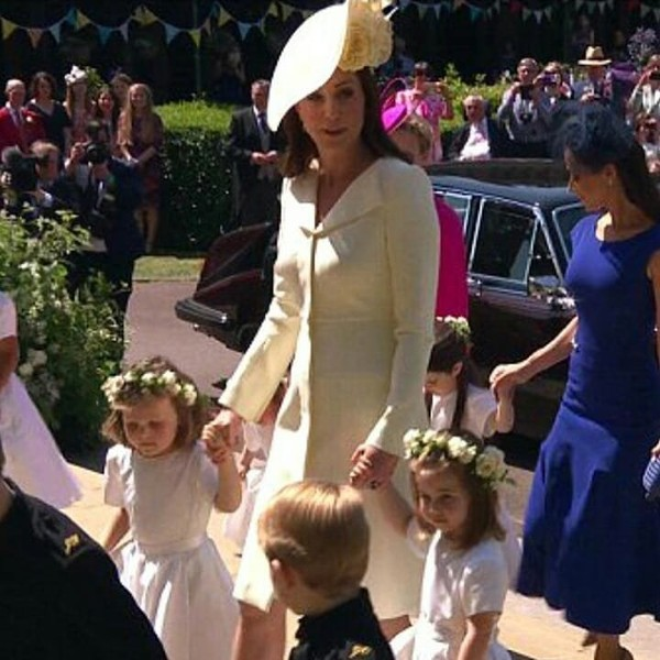 """HRH The Duchess Of Cambridge on Instagram: """"Catherine with the bridesmaids and pageboys 💕 She is stunning ! I was hoping for a new dress or outfit but I really love this…"""""""
