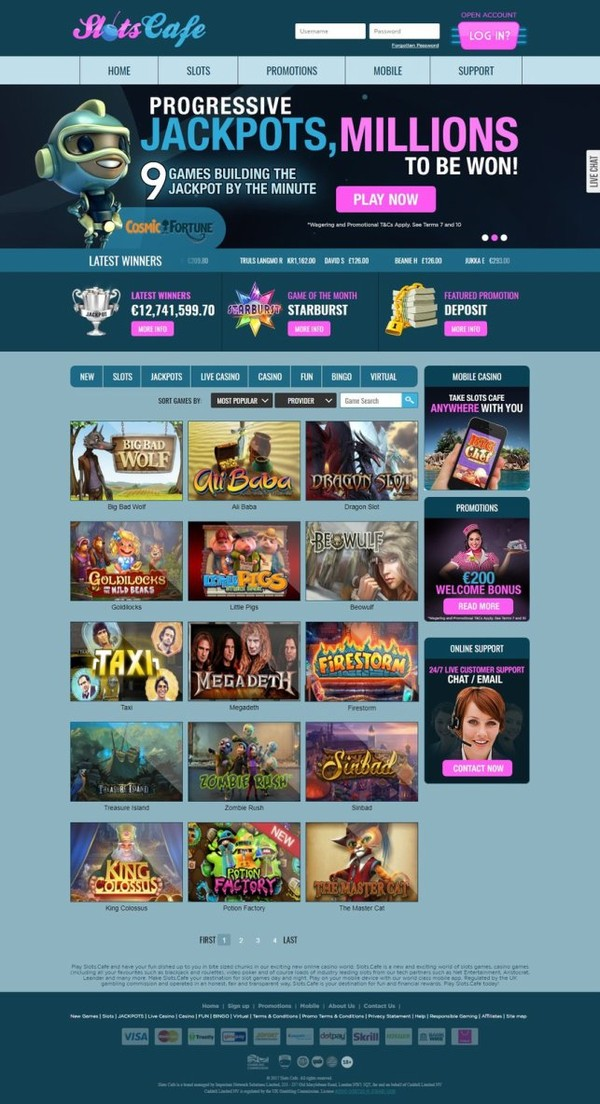 SLOTS CAFE AND JACKPOTLUCK.PLAY WITH ONLINE GAMES » WORLDGAMBLING BEST CASINO GAMES,SLOTS AND BETS