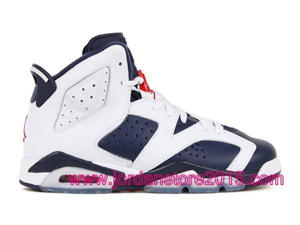 half off b7513 27680 Air Jordan 6 VI Retro gs Chaussures Jordan Basket Pour Femme olympic  384665-130